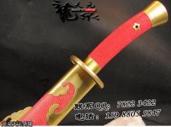 红鱼皮百炼清刀|龙泉名刀|清刀|花纹钢|★★★