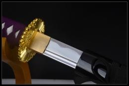 紫光黄花武士刀|中碳钢|武士刀|★★