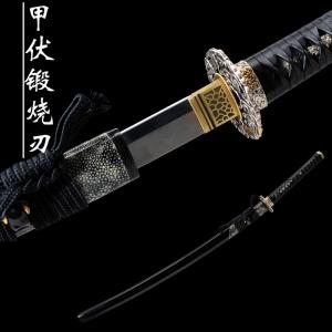 甲伏锻地肌烧刃武士刀|花纹钢|武士刀|★★★★