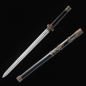 中款秦剑 花纹钢 龙泉剑