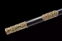 精装八面唐剑|百炼花纹钢|龙泉刀剑