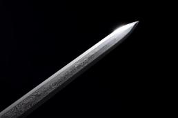 素装汉剑八面花纹钢 汉剑 花纹钢