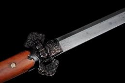 麒麟高碳花纹钢唐刀|唐刀|花纹钢