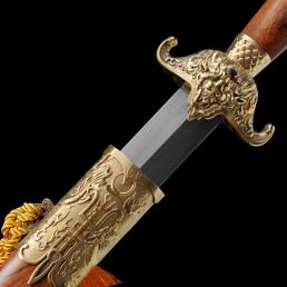铜装福气传统手工清剑|龙泉剑|花纹钢|★★★
