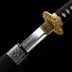 云龙碎焰纹烧刃武士刀 高碳钢T10烧刃 武士刀 ★★★