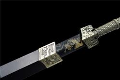 金属鞘云龙发黑汉剑|汉剑|碳钢|金属鞘金属柄 未开刃
