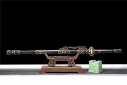百炼花纹钢铜装豪华唐刀|唐刀|百炼花纹钢|★★★★