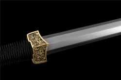 扁柄古汉八面汉剑|汉剑|百炼花纹钢|★★★