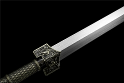 手工版四兽金属鞘汉剑 汉剑 百炼花纹钢 金属鞘金属柄 ★★★