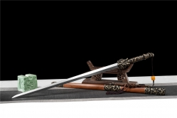 百炼花纹钢天龙神剑|龙泉刀剑|百炼花纹钢|★★★