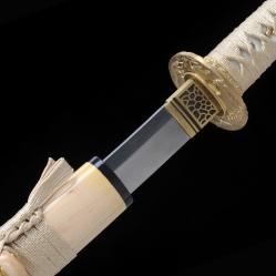 竹木纯一真横手烧刃武士刀|花纹钢烧刃|武士刀|★★★